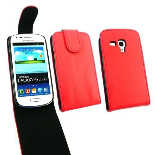 Housse etui cuir samsung galaxy s3 mini i8190 achat for Housse samsung s3