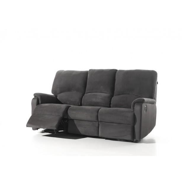 Magnifique canap salon complet relax electrique tissu luxe alta tissu - Salon canape cuir complet ...