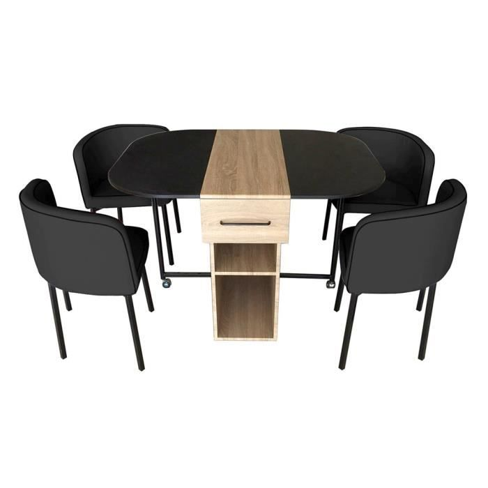 Ensemble table 4 chaises laura achat vente table a for Salle a manger 4 personnes