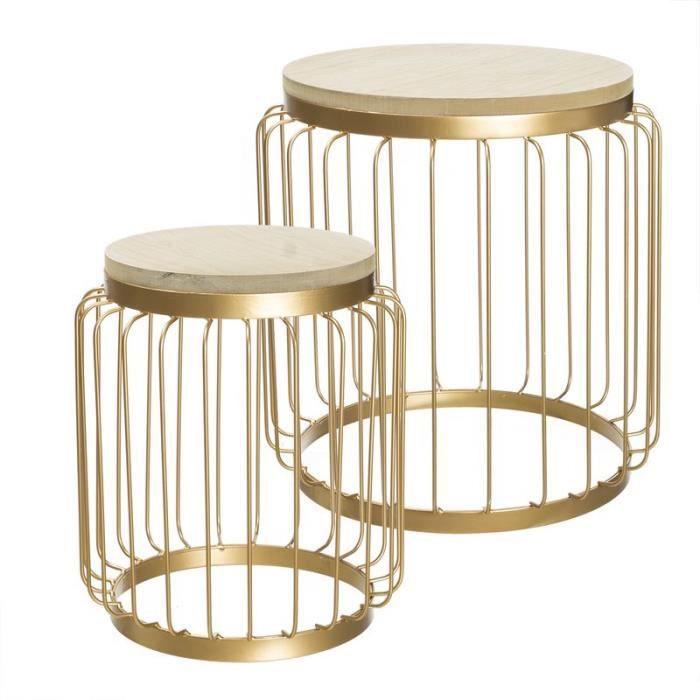 table basse ensemble 2 unit dor 46 cm achat vente table de cuisine table basse ensemble 2. Black Bedroom Furniture Sets. Home Design Ideas