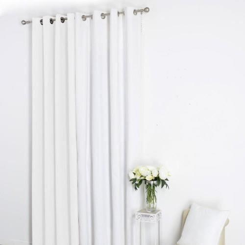 rideau 8 oeillets 140x260cm ivoire achat vente rideau tissu 100 coton m tal cdiscount. Black Bedroom Furniture Sets. Home Design Ideas