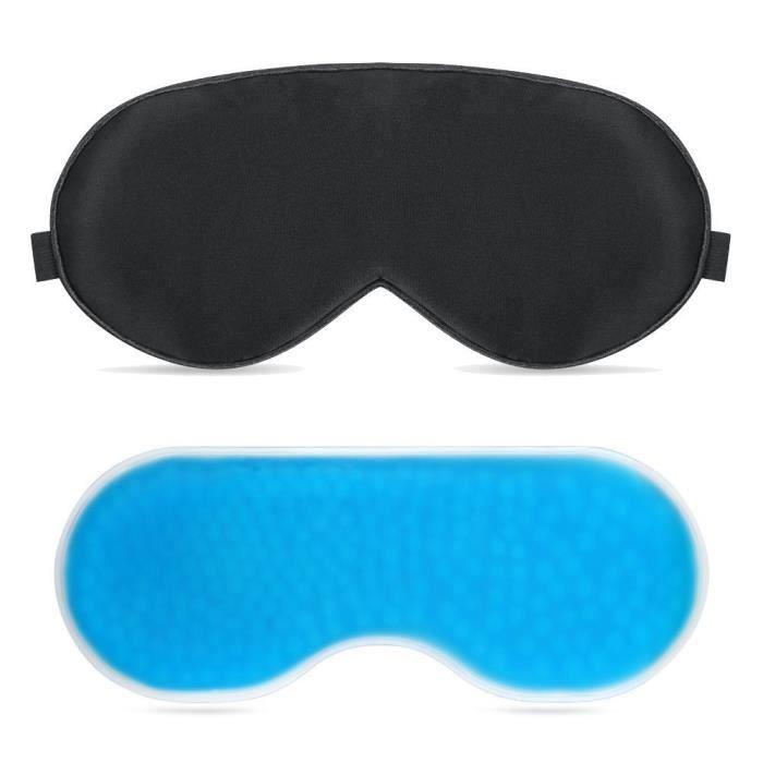 plemo masque de sommeil masque gel yeux avec microbilles. Black Bedroom Furniture Sets. Home Design Ideas