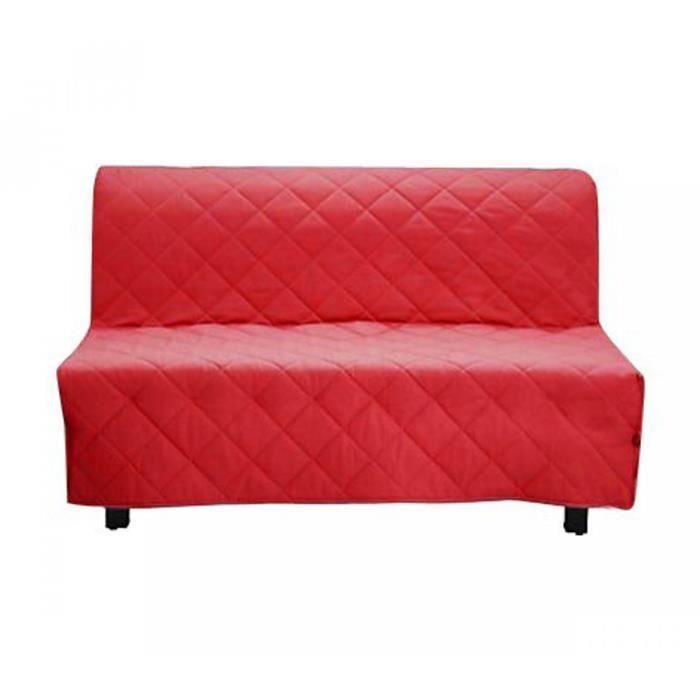 housse de clic clac matelass e rouge 140x190 achat vente housse de canape cdiscount