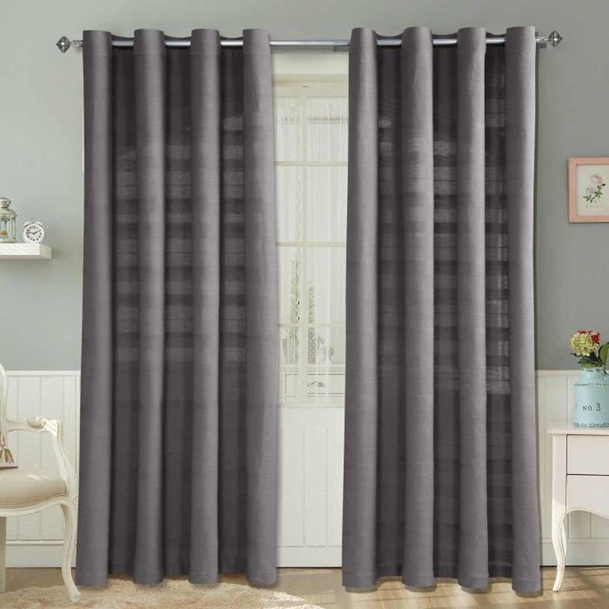 rideau moderne achat vente rideau moderne pas cher cdiscount. Black Bedroom Furniture Sets. Home Design Ideas