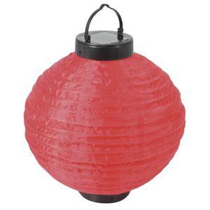 SOLARLINE Lampion solaire H24cm - Rouge