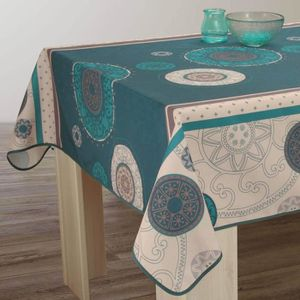 nappe pour table carre achat vente nappe pour table carre pas cher cdiscount. Black Bedroom Furniture Sets. Home Design Ideas
