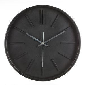 horloge murale noire design