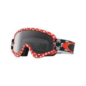LUNETTES - MASQUE Masque Motocross Oakley XS O Frame Skullbone Rouge