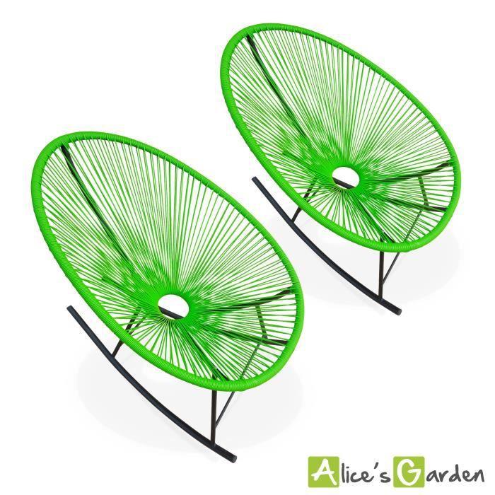 ensemble de 2 fauteuils ufs acapulco rocking achat vente fauteuil jardin fauteuils ufs. Black Bedroom Furniture Sets. Home Design Ideas
