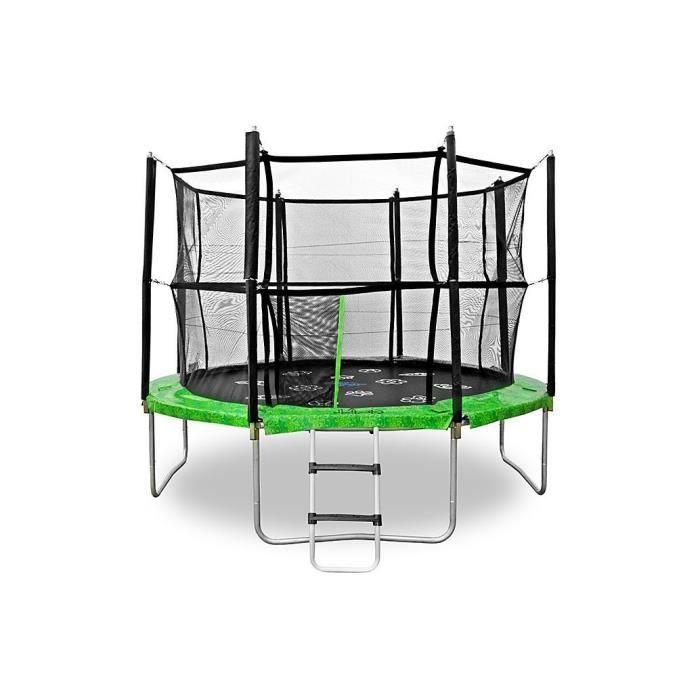 Jumpspirit 10 ft 305 cm premium trampoline d 39 ext rieur avec filet de s - Trampoline d exterieur ...