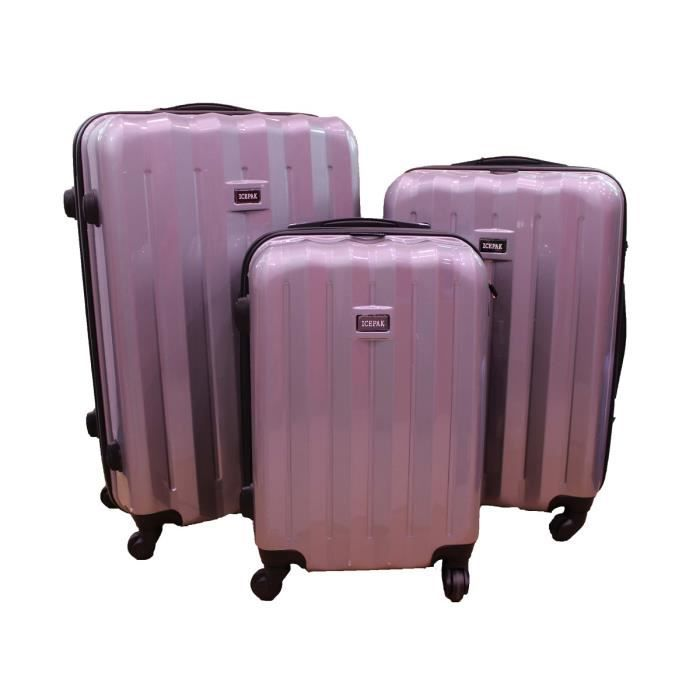 Bagage icepak lot de 3 valise rigide tsa argent achat - Lot de valise ...