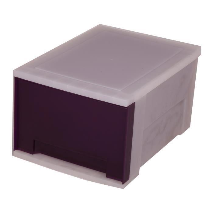 boite de rangement tiroir 15 litre boite tiroir rangement tours de rangement 1 tiroir. Black Bedroom Furniture Sets. Home Design Ideas
