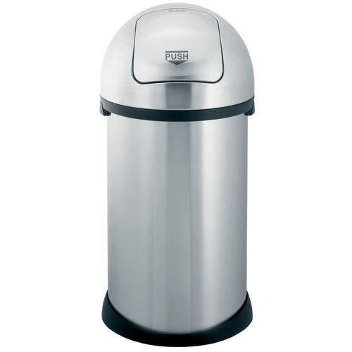 poubelle brabantia push bin 50 l acier mat achat vente poubelle corbeille poubelle. Black Bedroom Furniture Sets. Home Design Ideas