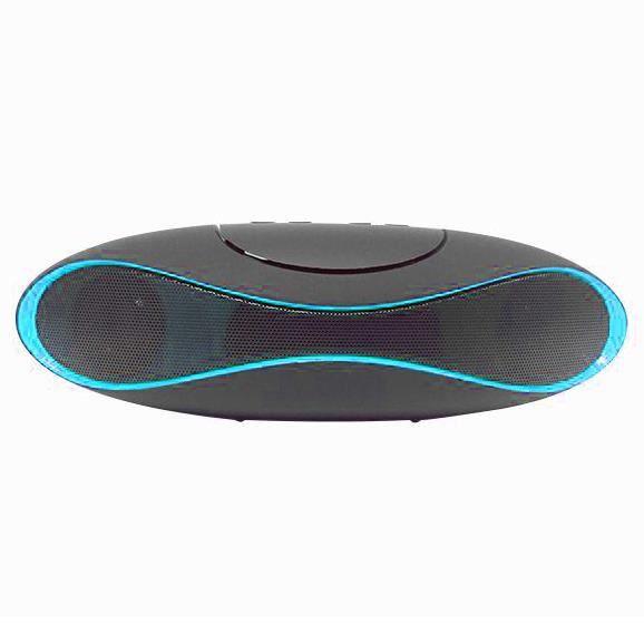 enceinte bluetooth design noire et bleue enceintes bluetooth avis et prix pas cher cdiscount. Black Bedroom Furniture Sets. Home Design Ideas