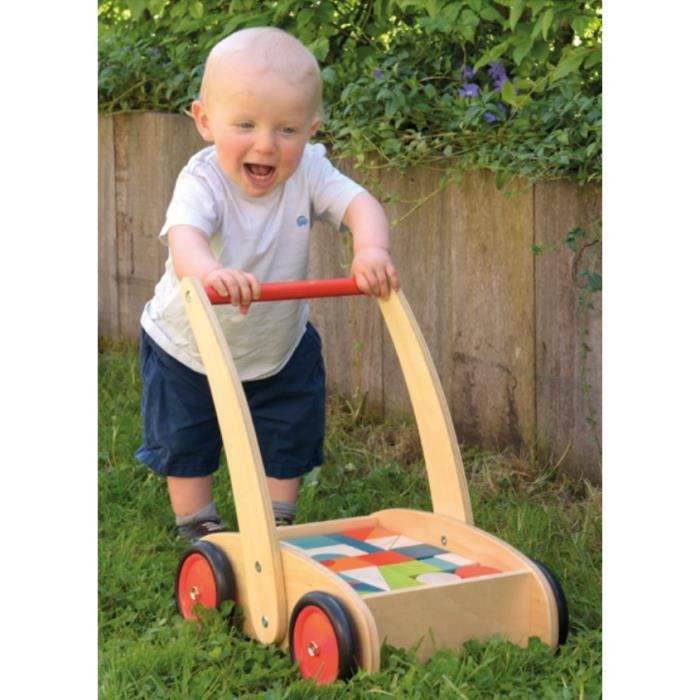 egmont toys chariot de marche avec blocs en bois. Black Bedroom Furniture Sets. Home Design Ideas