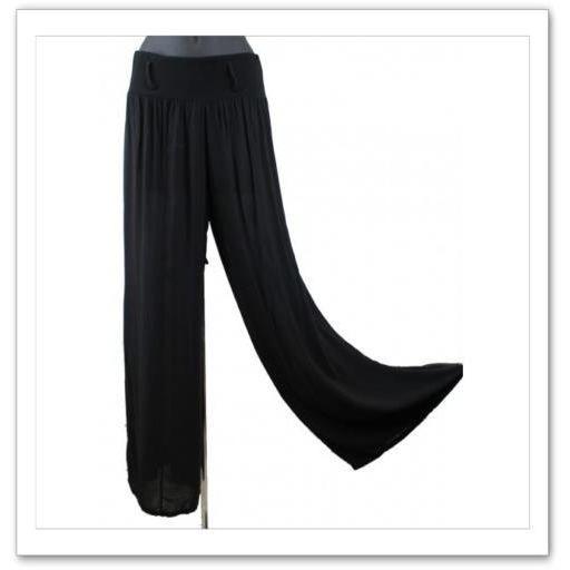 pantalon large et fluide sensuel et tendance noir achat vente pantalon 2009997174464. Black Bedroom Furniture Sets. Home Design Ideas