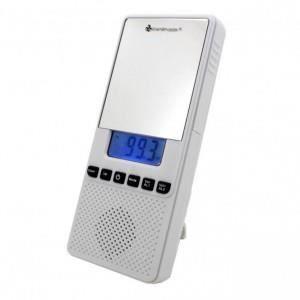 radio de salle de bain avec miroir et horloge s tuner radio prix pas cher soldes d t. Black Bedroom Furniture Sets. Home Design Ideas