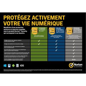 NORTON SECURITY 2016 DELUXE  (5 appareils / 1 an)