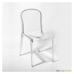 Chaise plastique transparente achat vente chaise for Soldes chaises transparentes