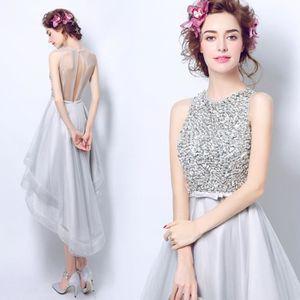 Robe de soiree argent achat vente robe de soiree for Robes de mariage en argent