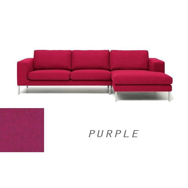 grand canape moderne angle droit en tissu rose violet. Black Bedroom Furniture Sets. Home Design Ideas