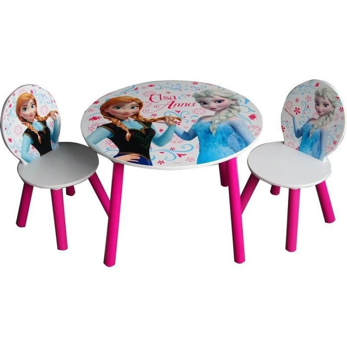 Ensemble table 2 chaises en bois la reine des neiges for Table et 2 chaises