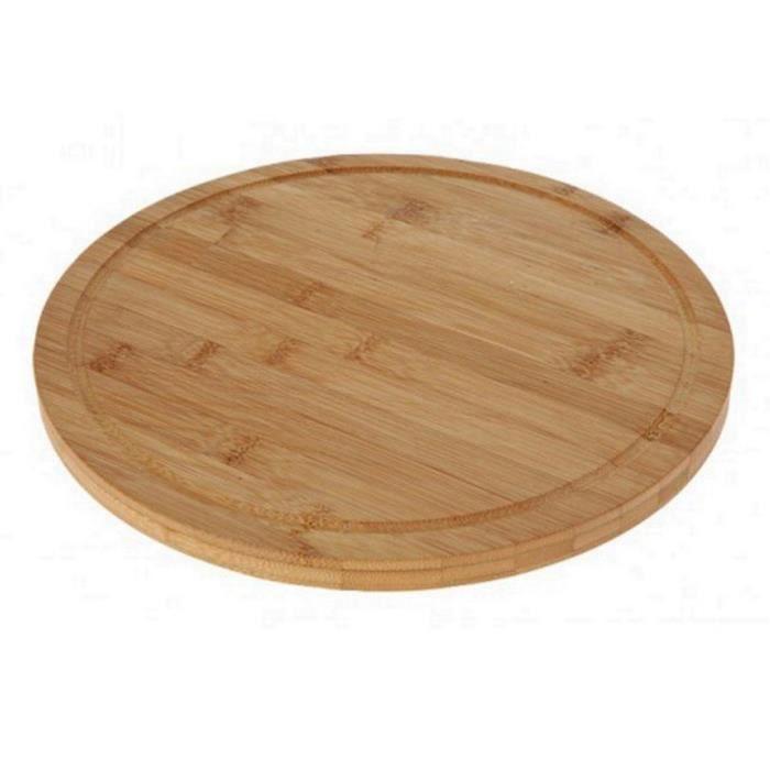 1 planche a decouper bambou ronde 30 cm cuisine achat - Planche en bois cuisine ...