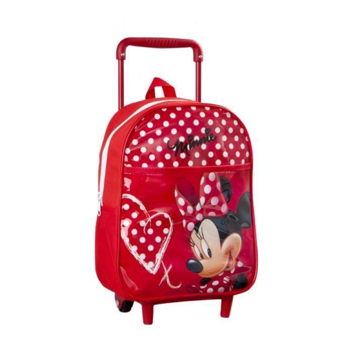 sac a dos enfant avec roulettes rouge minnie mouse achat vente sac dos sac a dos enfant. Black Bedroom Furniture Sets. Home Design Ideas