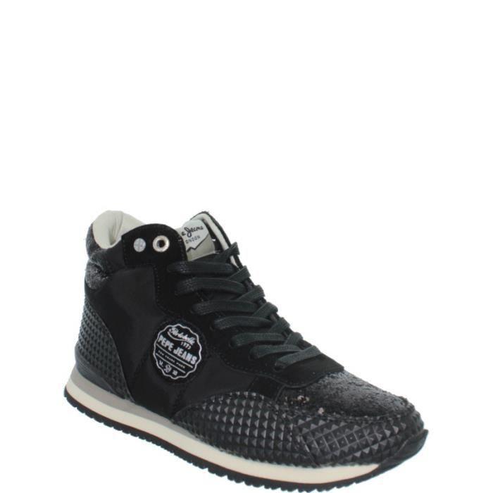 baskets pepe jeans ref pep38105 noir noir noir achat vente basket cdiscount. Black Bedroom Furniture Sets. Home Design Ideas