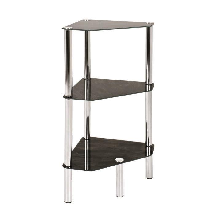 table d 39 appoint carat 6 acier verre achat vente table d 39 appoint table d 39 appoint carat 6. Black Bedroom Furniture Sets. Home Design Ideas