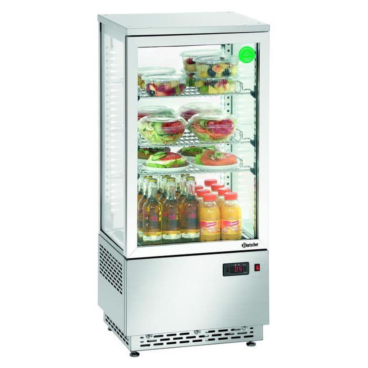 bartscher vitrine r 233 frig mini 78l inox a2ch 700478g achat vente buffet r 233 frig 233 r 233