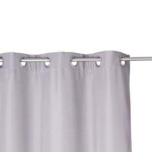rideau isolant 140 x 260 cm polyester gris achat vente rideau les soldes sur. Black Bedroom Furniture Sets. Home Design Ideas
