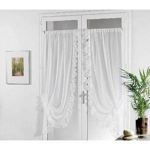 rideau bonne femme achat vente rideau bonne femme pas cher cdiscount. Black Bedroom Furniture Sets. Home Design Ideas