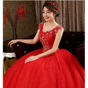 Robe de mariée rouge et blanche - Achat / Vente Robe de mariée rouge ...