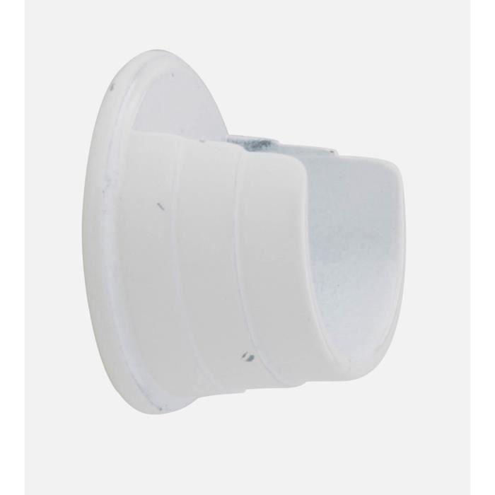 1 support entre murs blanc pour barre 28 achat vente. Black Bedroom Furniture Sets. Home Design Ideas