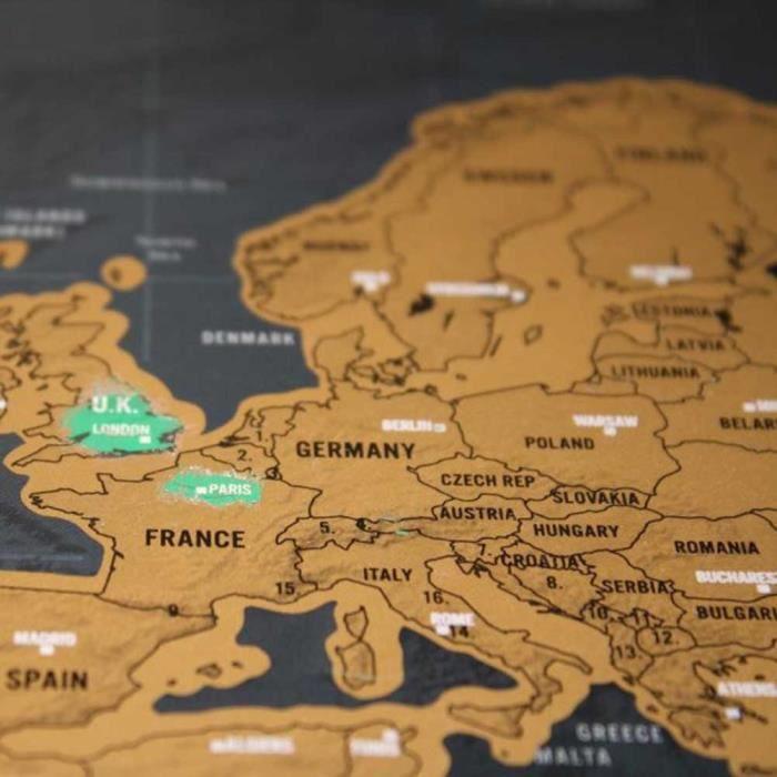 grattez carte du monde achat vente carte planisph re grattez carte du monde cdiscount. Black Bedroom Furniture Sets. Home Design Ideas