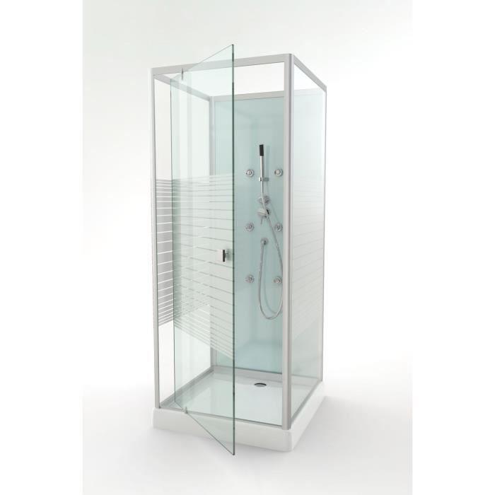 Aurlane cabine de douche easy glass 80x80cm achat vente cabine de douche - Soldes cabine de douche ...