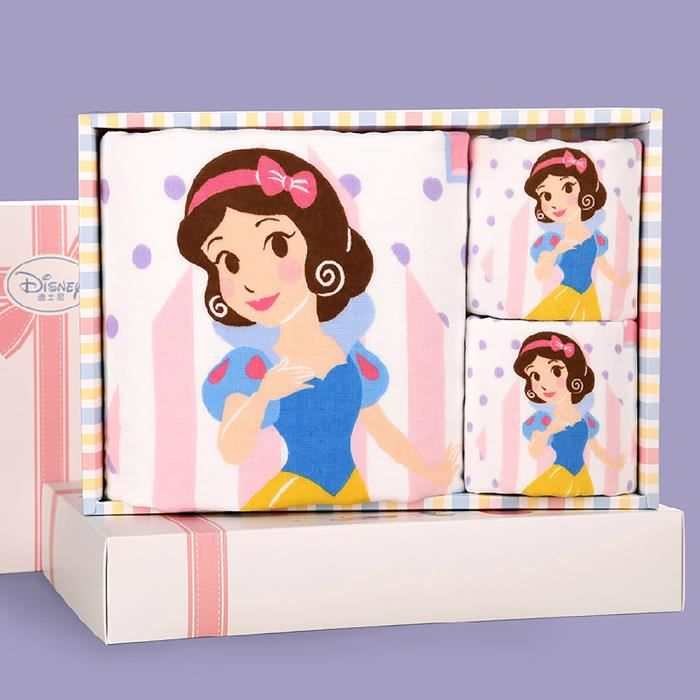 Serviettes de bain coton la princesse blanche neige 3 pcs bo te en cadeau serviettes main pour - La princesse blanche neige ...