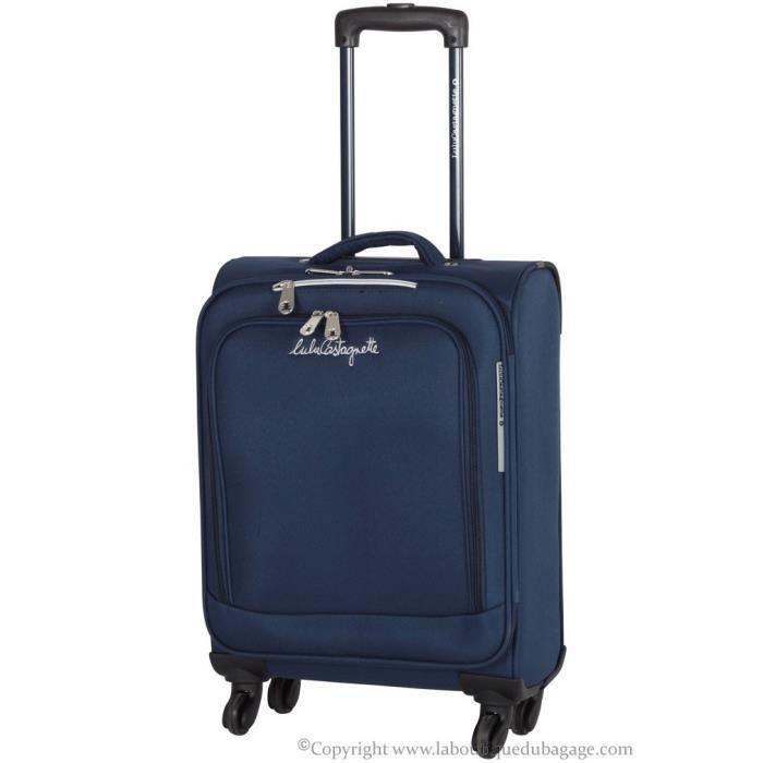 lulu castagnette valise cabine souple bzr marine bleu. Black Bedroom Furniture Sets. Home Design Ideas