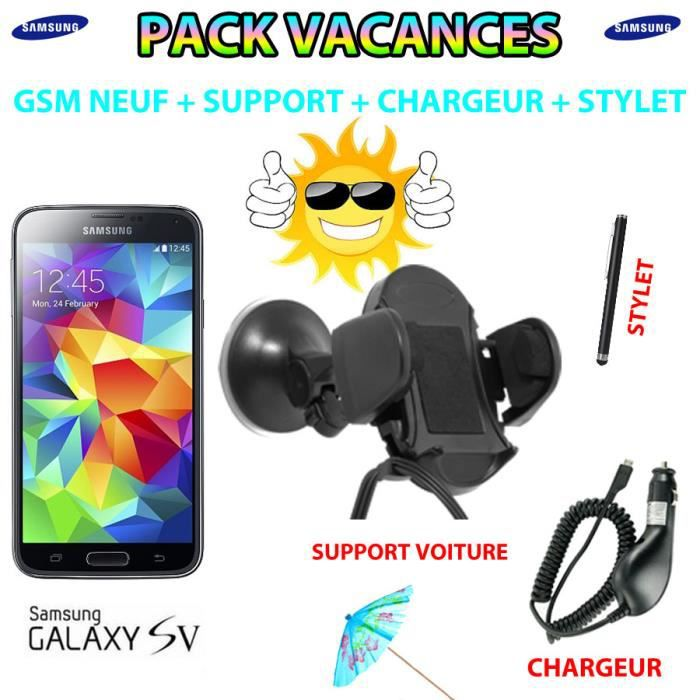 pack special holiday samsung galaxy s5 noir achat. Black Bedroom Furniture Sets. Home Design Ideas