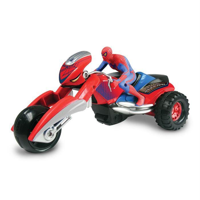 Moto spider trike rc spiderman achat vente voiture camion cdiscount - Spider man moto ...