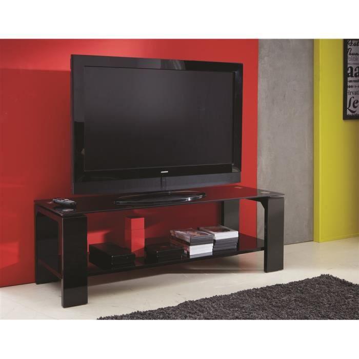 Banc tv swithome bercy noir achat vente meuble tv banc for Banc tv noir