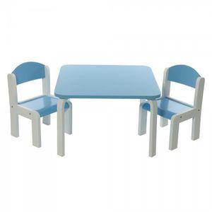 Table enfants avec deux chaise achat vente table enfants avec deux chaise pas cher cdiscount Chaise pour table en bois