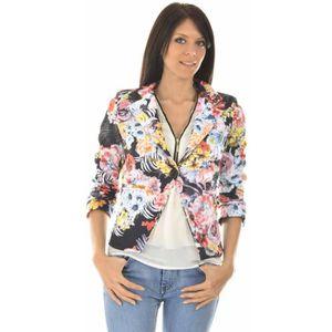 veste a fleur femme achat vente veste a fleur femme pas cher cdiscount. Black Bedroom Furniture Sets. Home Design Ideas
