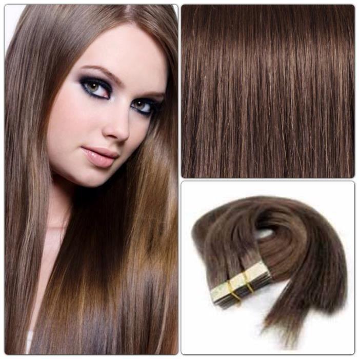 20 bandes adh sives extensions de cheveux naturels achat vente perruque postiche 20 bandes. Black Bedroom Furniture Sets. Home Design Ideas