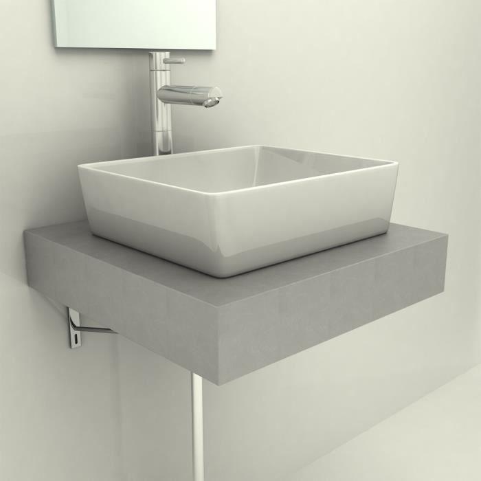 P160 comptoir en beton pour un lavabo de salle de bains for Peinturer un comptoir de salle de bain