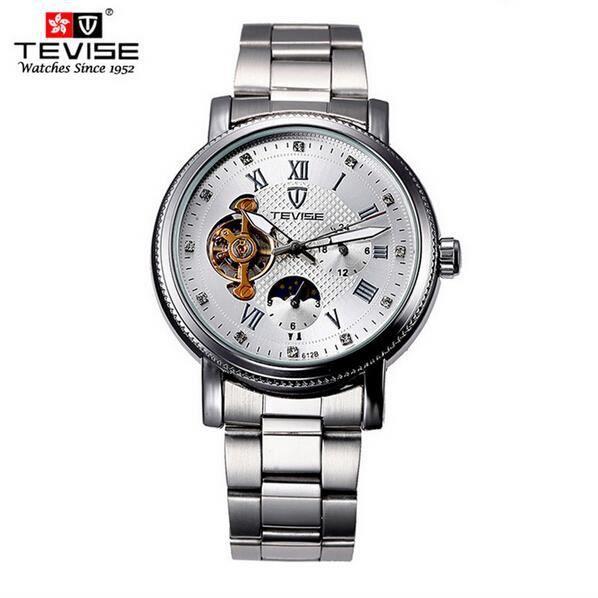 tevise montres hommes marque de luxe vider montre homme tanche horloge m canique homme montre. Black Bedroom Furniture Sets. Home Design Ideas