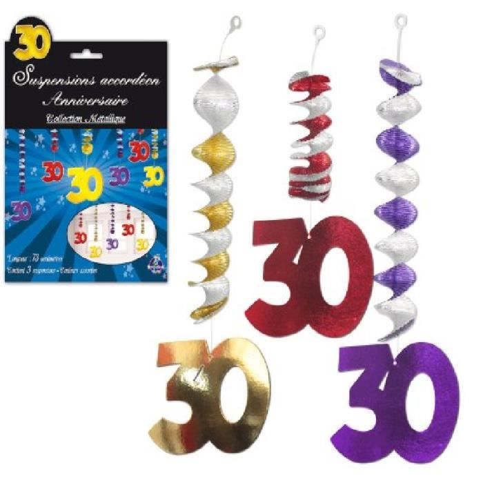 3 d corations suspendre accord on 30 ans taille unique for Decoration 30 ans