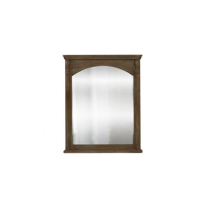Miroir mural rectangulaire 100 x 80 bois achat vente for Achat miroir mural