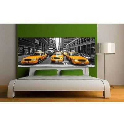 Stickers t te de lit d co new york taxi 9127 dimensions for Deco taxi new york